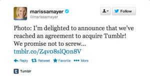 Marissa Mayer Tumblr tweet